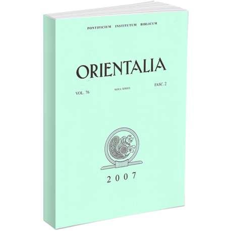 Orientalia 2007 - Fascicolo n. 2