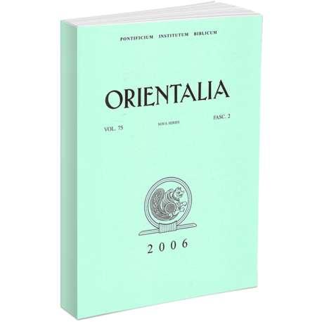 Orientalia 2006 - Fascicolo n. 2