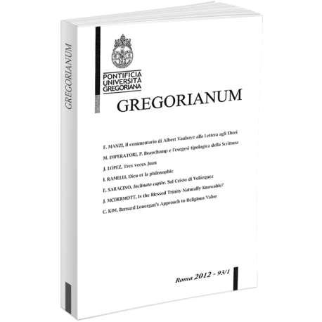 Gregorianum 2012 - Fasc. 1