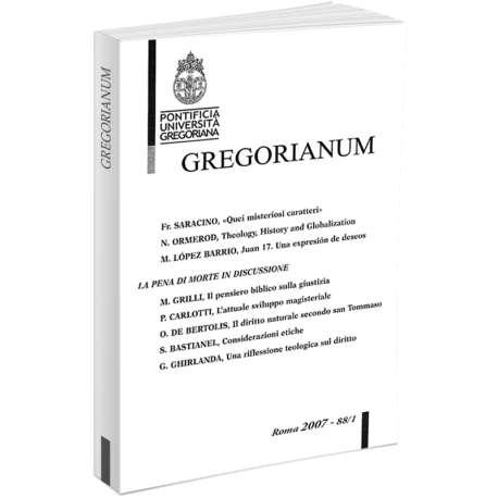 Gregorianum 2007 - Fasc. 1