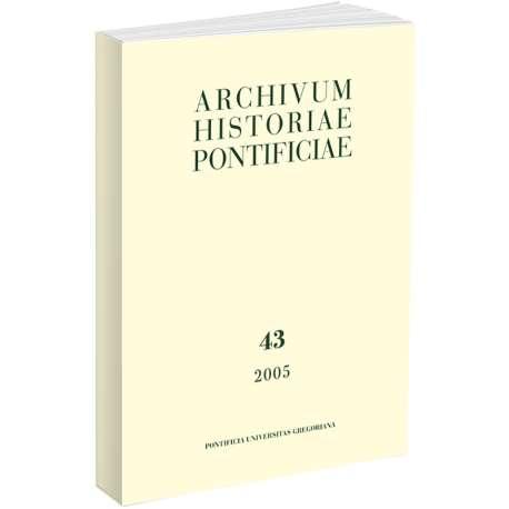 Archivum Historiae Pontificiae 2005/43