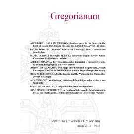 11 - RIASSUNTI - ABSTRACTS - GREGORIANUM 2017 2 (98)