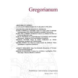 10 - RIASSUNTI - ABSTRACTS - GREGORIANUM 2016 1 (97)