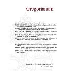 11 - RIASSUNTI - ABSTRACTS - GREGORIANUM 2016 3 (97)