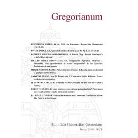 11 - RIASSUNTI - ABSTRACTS - GREGORIANUM 2018 1 (99)