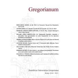 GREGORIANUM 2018 Fasc. 1