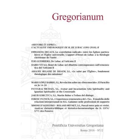 Gregorianum 2016 - Fasc. 2