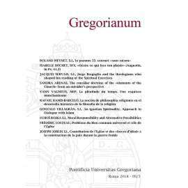 10 - RIASSUNTI - ABSTRACTS - GREGORIANUM 2018 3 (99)