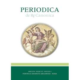 01 - Travers Patrick J. - Amoris Laetitia and Canon 915: a merciful return to the letter of the law II. - P. 367