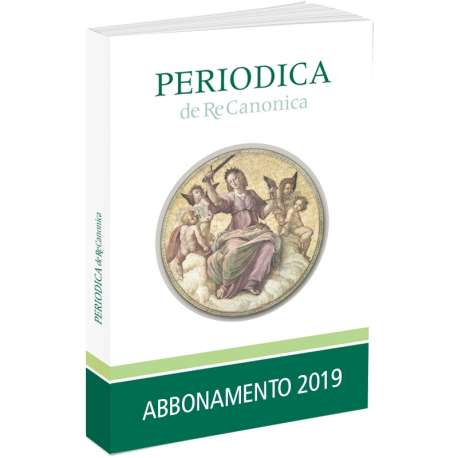 Periodica de Re Canonica abbonamento 2019