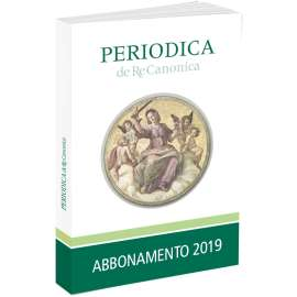 Periodica De Re Canonica abbonamento 2019 Pdf