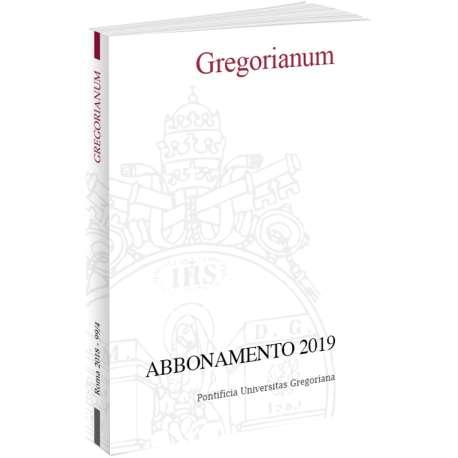 Gregorianum abbonamento 2019 cartaceo