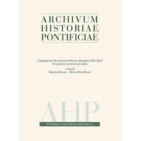 Archivum Historiae Pontificiae 2013/51 - PDF + Cartaceo