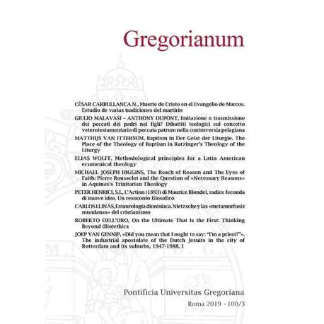 01 - Carbullanca Cesar - Muerte de Cristo en el Evangelo de Marcos - pp. 463-485