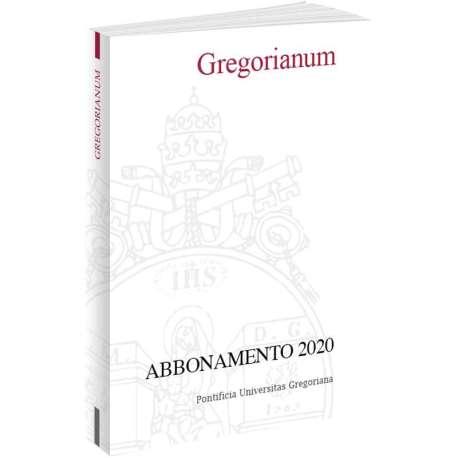 Gregorianum abbonamento 2020 cartaceo