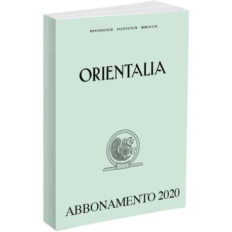 Orientalia abbonamento 2019