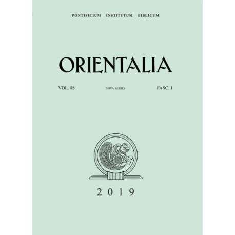 Orientalia 2019 - Fascicolo n. 1
