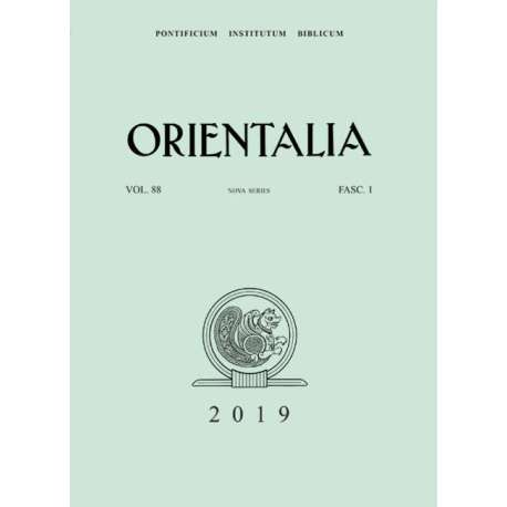 Orientalia 2019 - Fasc. 1
