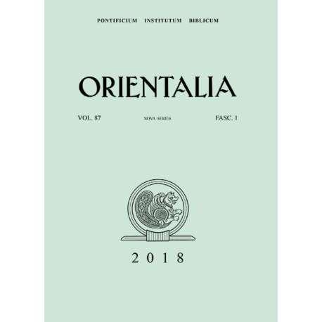 Orientalia 2018 - Fascicolo 1