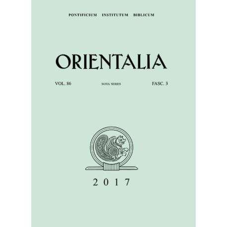 Orientalia 2017 - Fasc. 3