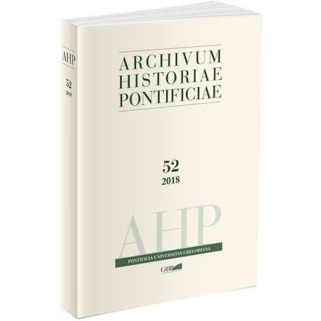 Archivum Historiae Pontificiae Vol. 52