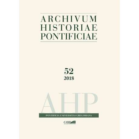 Archivum Historiae Pontificiae 52 - PDF + Cartaceo
