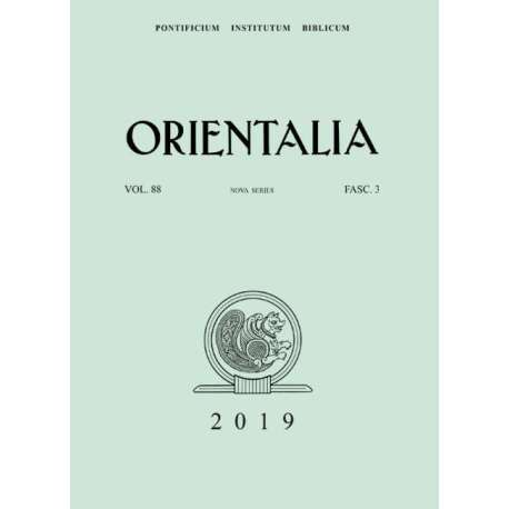 Orientalia 2019 - Fascicolo n. 3