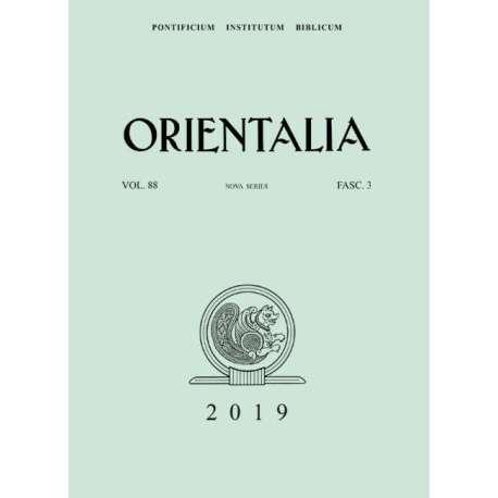 Orientalia 2019 - Fascicolo 3
