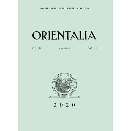 Orientalia 2020 - Fascicolo n. 1