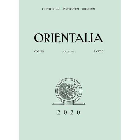 Orientalia 2020 - Fascicolo 2