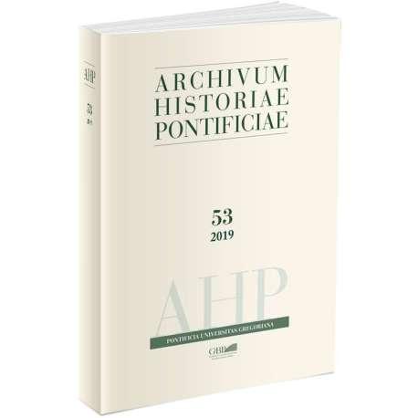 Archivum Historiae Pontificiae Vol. 53 / 2019