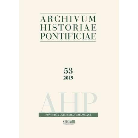 Archivum Historiae Pontificiae Vol. 53 / 2019 - Formato PDF