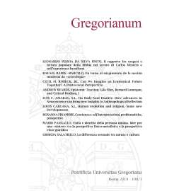 Gregorianum 2019 Fasc. 1