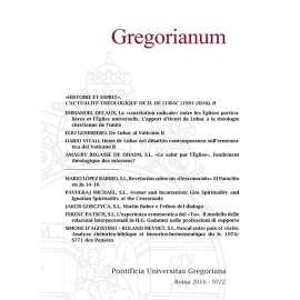 Gregorianum 2016 Fasc. 1