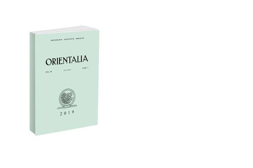 Orientalia 2019 - Fasc. 1 (88)