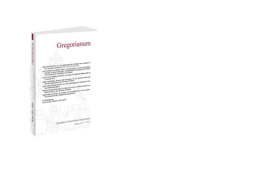 Gregorianum 2019 - Fasc. 2(100)