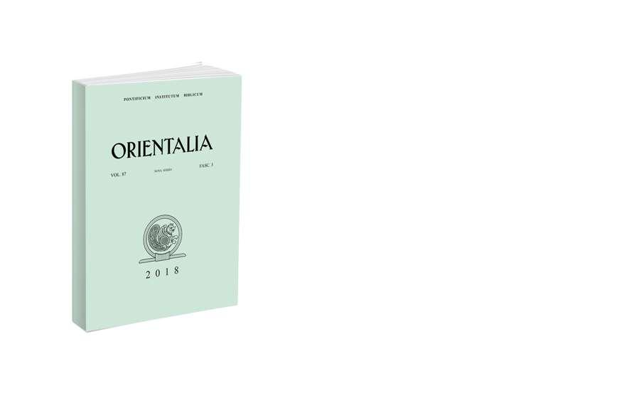 Orientalia 2018 - Fasc. 3 (87)