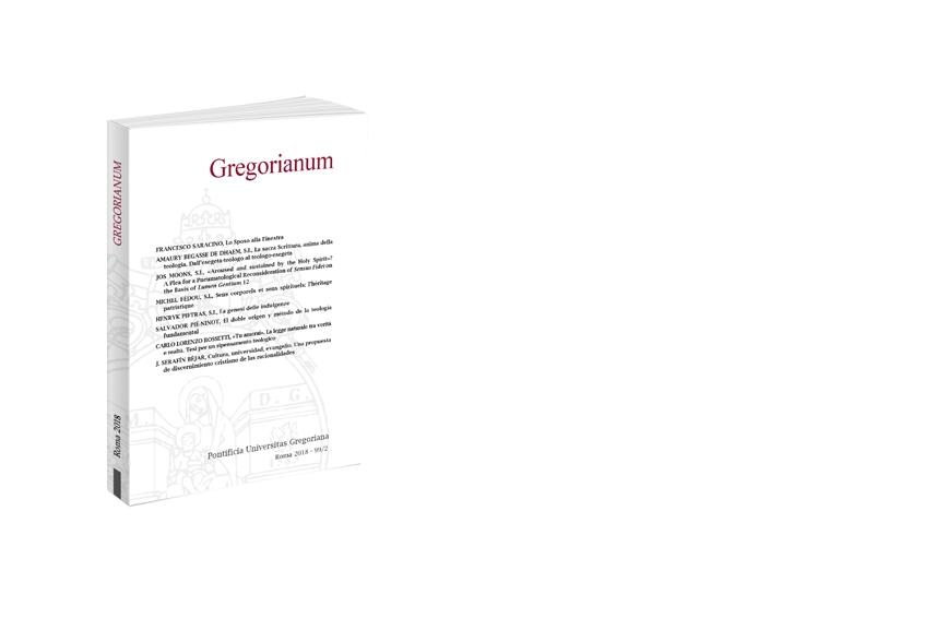 Gregorianum 2018 - Fasc. 2 (99)