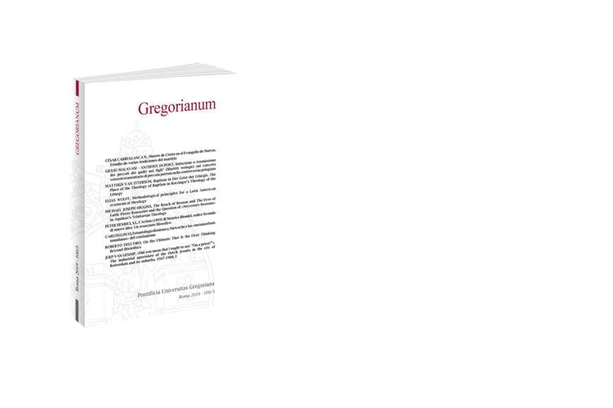 Gregorianum 2019 - Fasc. 3 (100)